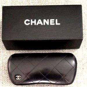 XL Quilted Chanel Glasses Case, Box & Cloth - AUTH